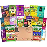 GLUTEN FREE and VEGAN Healthy Snacks Care Package (28 Ct): Bars, Chips, Crispy Fruit, Nuts Trail Mix, Gift Box Sampler, Office Snack Variety Pack, College Student Care Package, Gift Basket Alternative