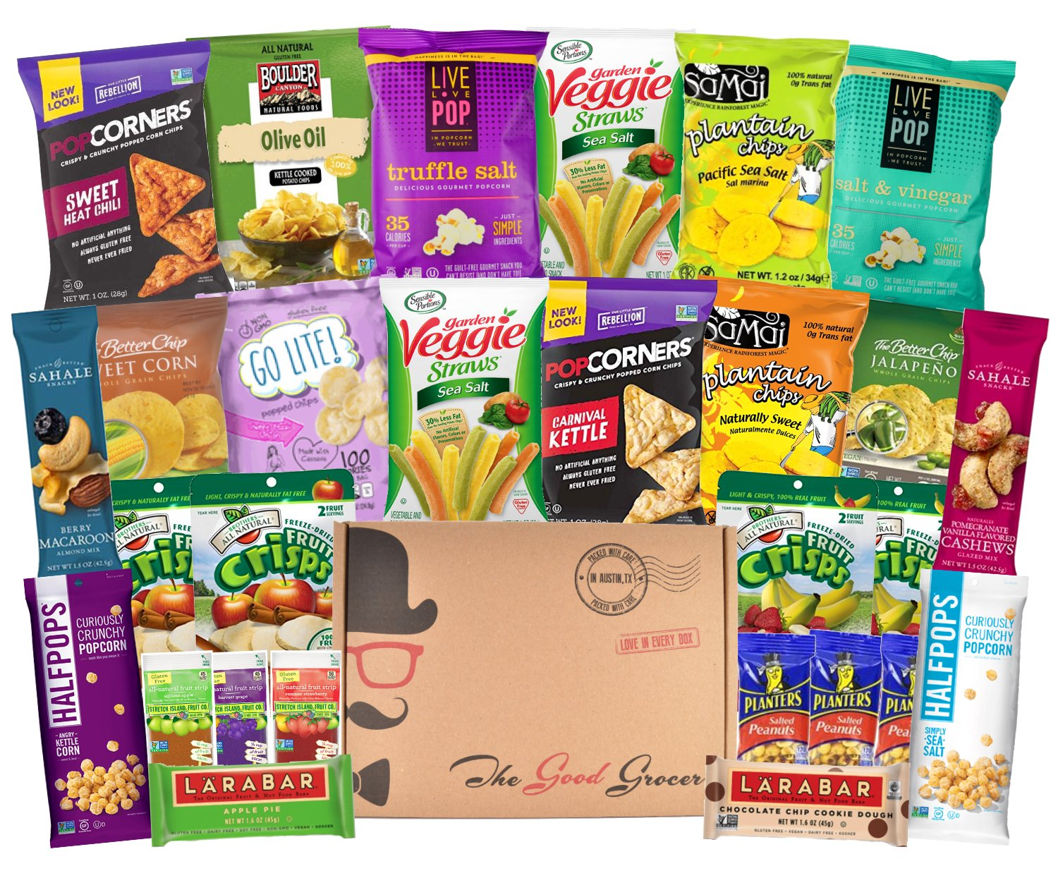 Amazon gluten free dairy free healthy snacks care package gluten free and vegan healthy snacks care package 28 ct bars chips negle Image collections