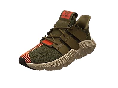 adidas Prophere, Sneakers Basses Homme, Vert (Trace Olive/Solar Red 0), 41 1/3 EU