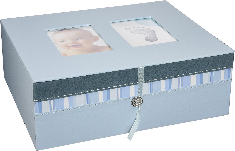 Pearhead 36010 - Caja de recuerdos del bebé, color azul: Amazon.es: Bebé
