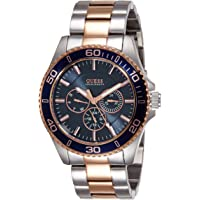 Guess Chaser Men's Blue Dial Stainless Steel Band Multifunction Watch - W0172G3