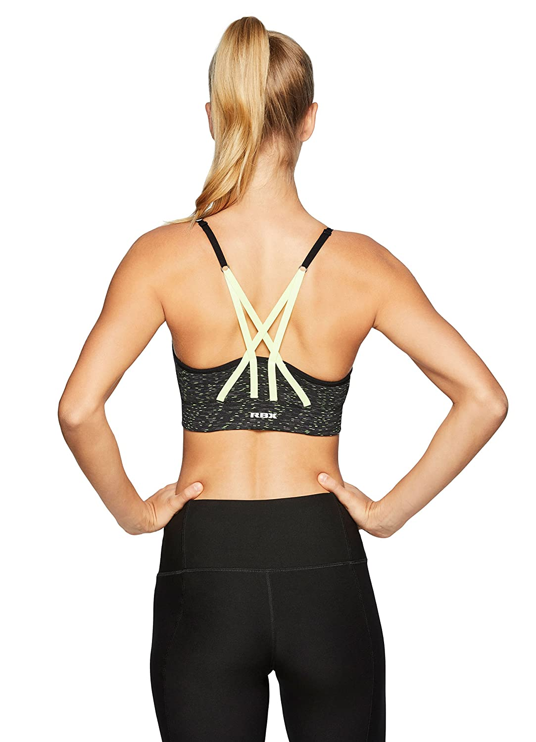 RBX Active Womens Seamless Strappy Back Bra A192-BLACK-XL
