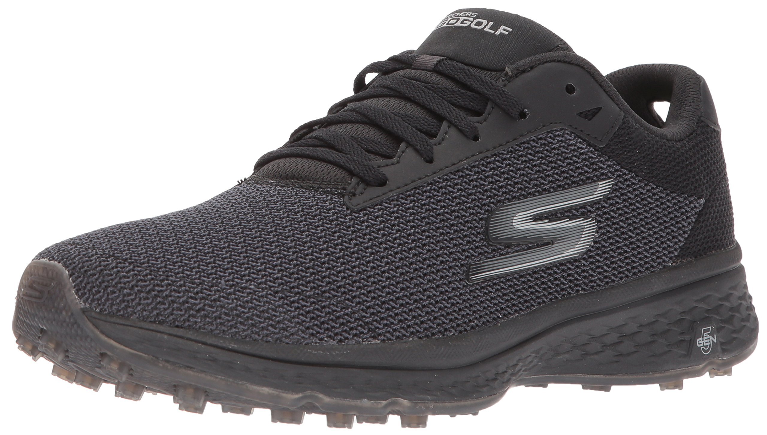 Skechers Golf Men's Go Golf Fairway Golf Shoe, Black Mesh, 12 M US by Skechers