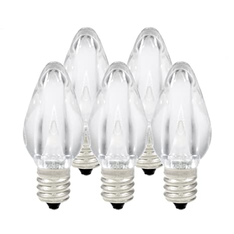 Amazon.com : Holiday Lighting Outlet LED Smooth C7 Cool White ...