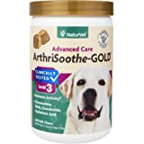 NaturVet Clinically Tested ArthriSoothe-GOLD Level 3 Advanced Joint Care for Dogs and Cats, Soft Chews, Made in USA