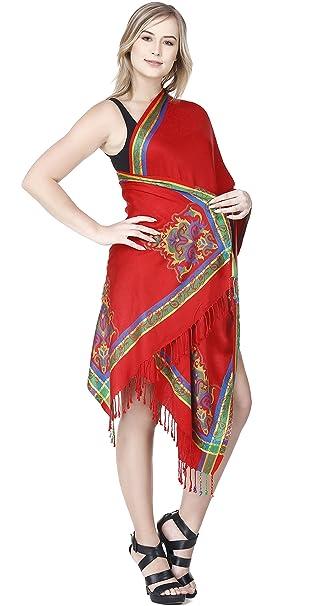 SKAVIJ Chales y Wraps para vestidos de noche Bufandas rojas para mujer para el banquete de boda: Amazon.es: Ropa y accesorios