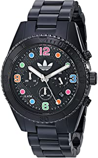 adidas Unisex ADH2946 Brisbane Black and Multicolor Watch With Black Bracelet