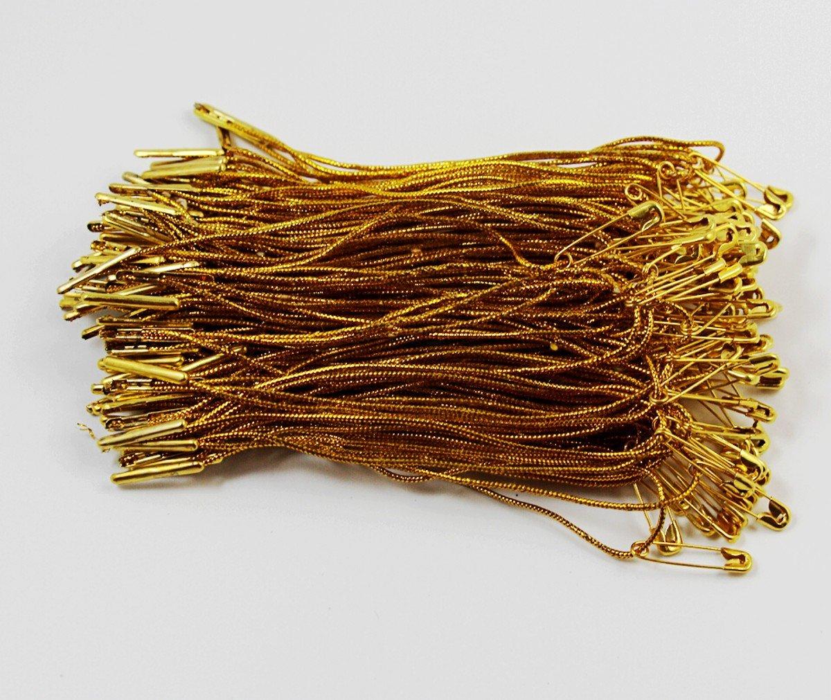 100pcs Clothing Rope Safety Pin Lanyard Tag Rope Snap Tabs Hang Tag String