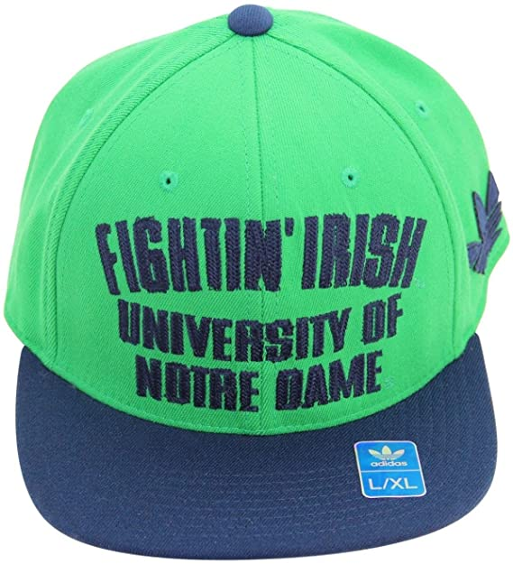 979d34b0035 Image Unavailable. Image not available for. Color  adidas NCAA Notre Dame  Fighting Irish Flat Bill Flex S M Cap