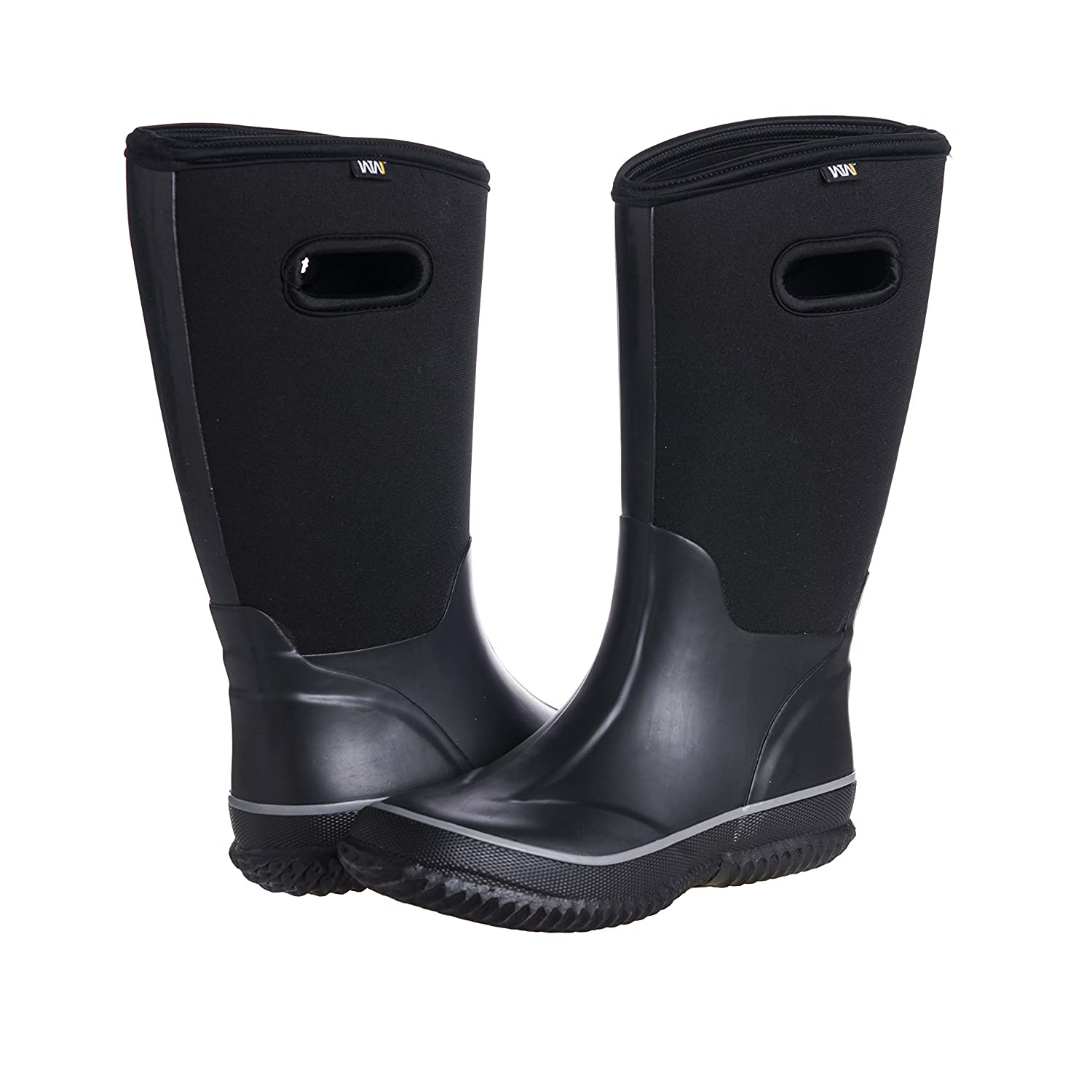 2df18516b9b54 Amazon.com: WTW Men's Neoprene Rubber Rain Snow Boots Black: Shoes