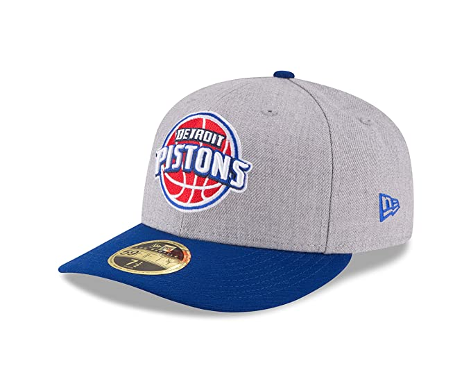 watch 7a6b4 13eb3 NBA Detroit Pistons Men s Low Profile 59FIFTY Fitted Cap, 7, Heather Gray