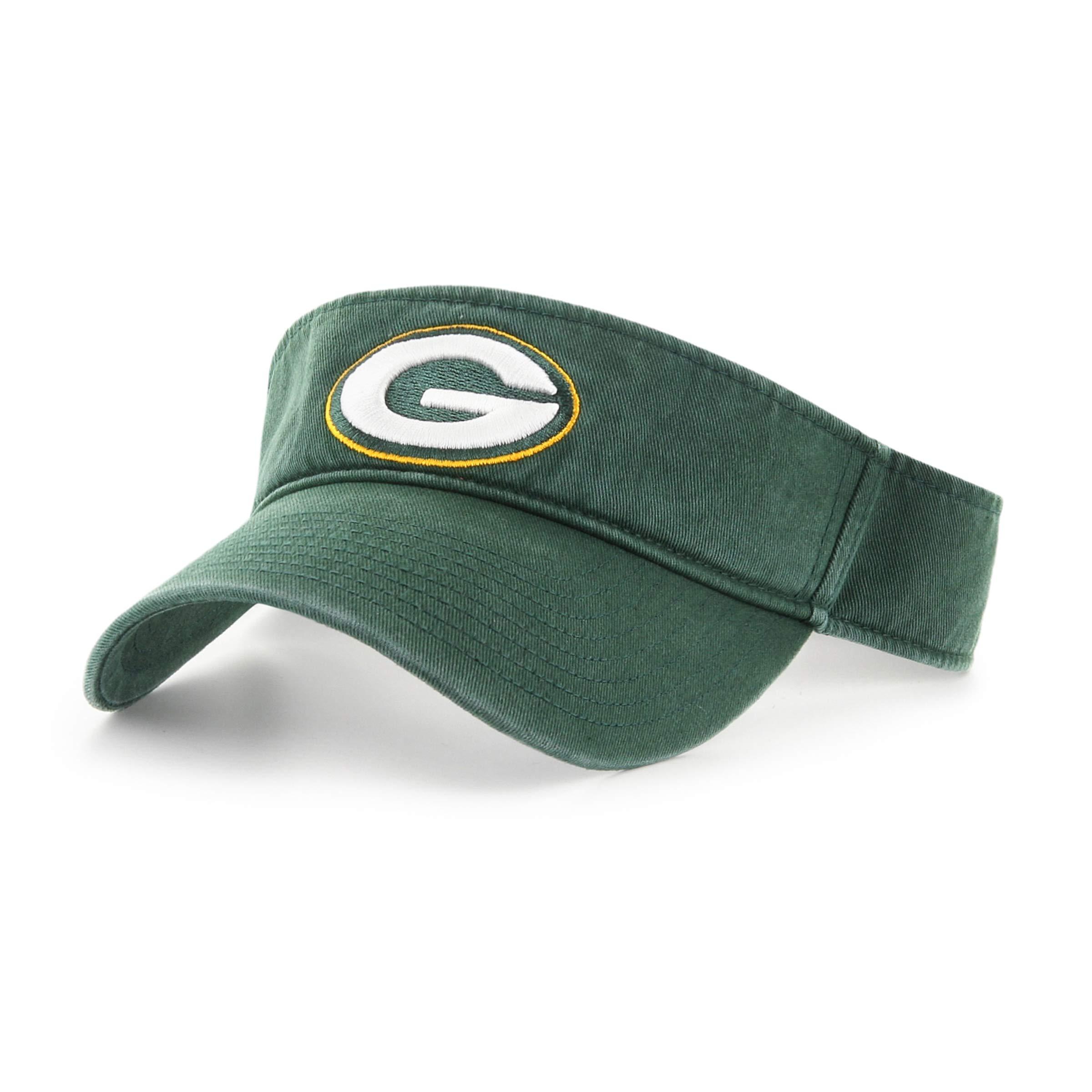 OTS NFL Green Bay Packers Male Visor, Dark Green, One Size