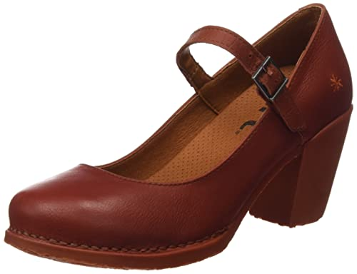 Genova, Zapatos de Tacón con Punta Cerrada para Mujer, Naranja, 40 EU Art