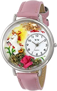 product image for Whimsical Watches Unisex U1610002 Unicorn Pink Leather Watch