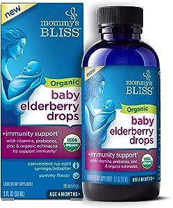 Mommy's Bliss - Organic Baby Elderberry Drops - 3 FL OZ Bottle