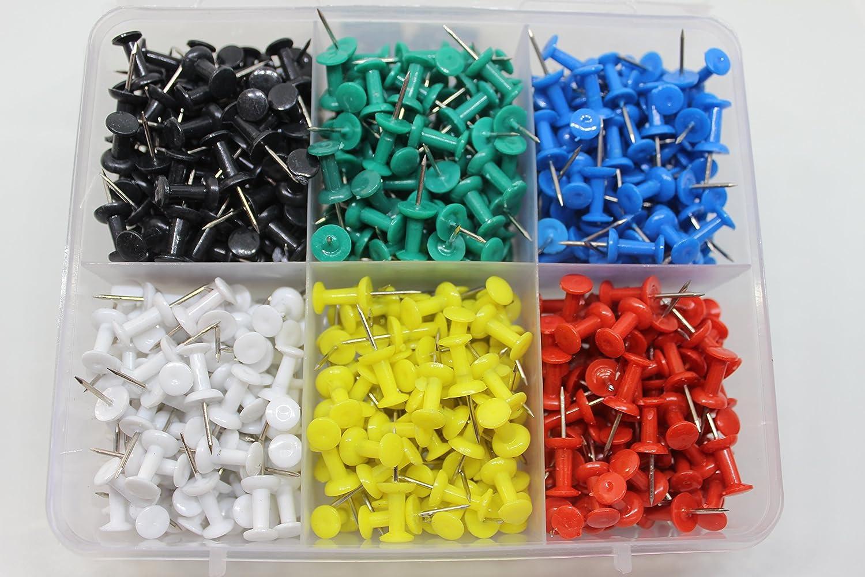 Puntine multicolori, in confezione da 500pezzi, per mappe e bacheche in sughero Sharry Multiservices