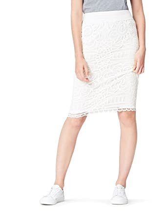 the latest 5aa4a 9a908 Marchio Amazon - find. Gonna A Tubino Donna in Pizzo Trasparente