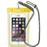 IPX8 Wasserdichte Tasche, Wasser- und staubdichte Hülle für Geld, Datenträger und Smartphones bis 15,24 cm (6 Zoll), Ideal für den Strand, Wassersport, fürs Radfahren, Angeln, usw.