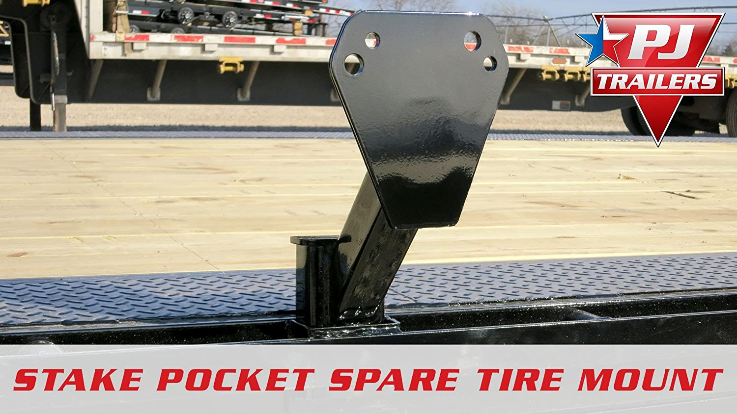 Stake Pocket Spare Tire Mount PJ Trailers