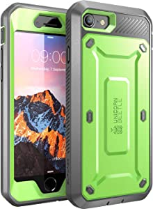 SUPCASE Unicorn Beetle Pro Series Case Designed for iPhone SE 2nd generation (2020)/iPhone 7/iPhone 8, Full-Body Rugged Holster Case with Built-In Screen Protector (Green)