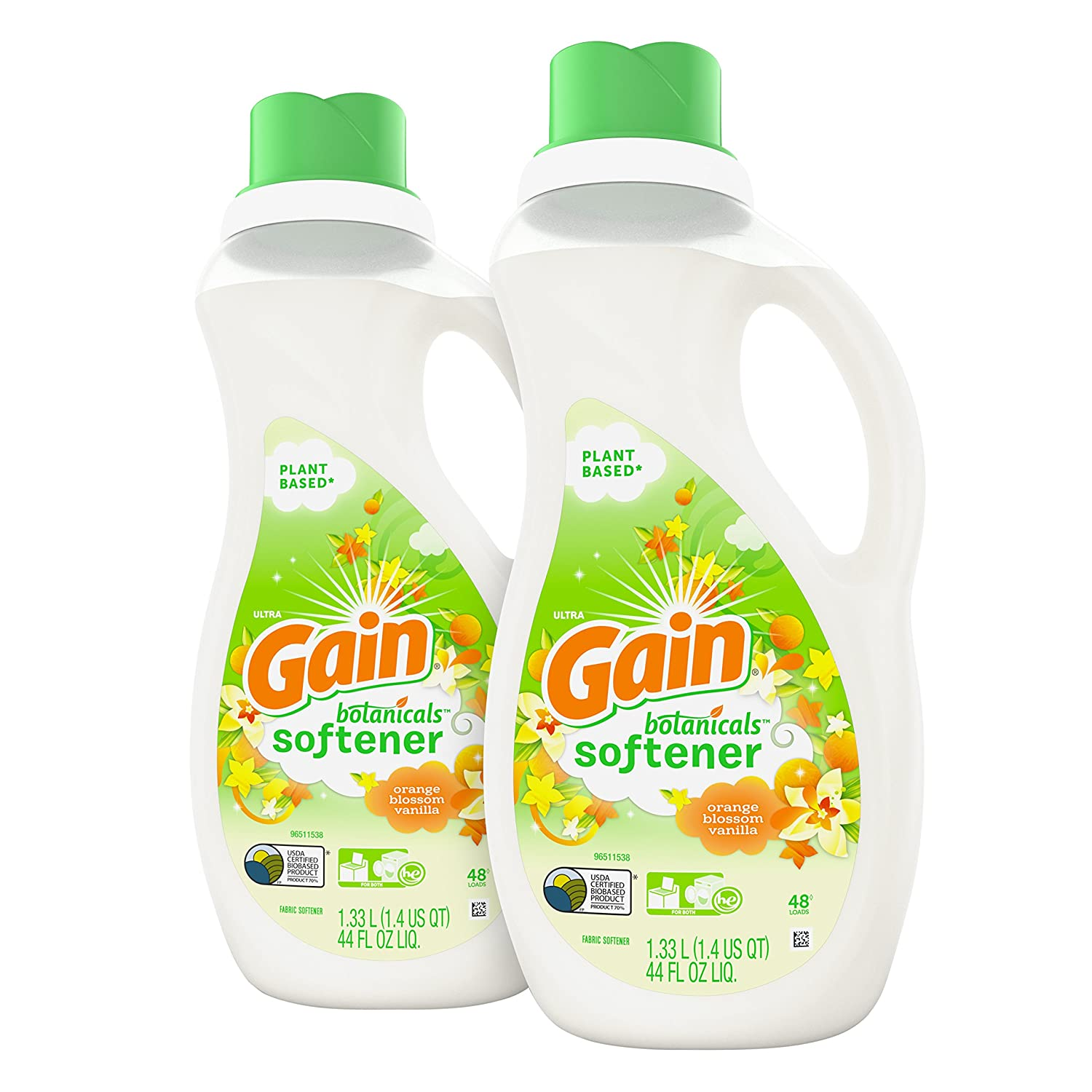 Gain Botanicals Liquid Fabric Softener, Orange Blossom Vanilla, 2 Count
