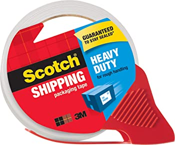 Scotch Heavy Duty Shipping Packing Tape With Dispenser
