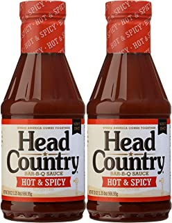 product image for Head Country Bar-B-Q Sauce, Hot & Spicy Flavor, 20oz (pack of 2)