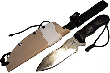 JLBro Kodiak cuchillo acero al carbono, funda Kydex desert y ...