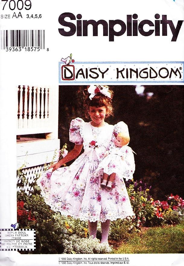 Amazon.com: Simplicity Pattern 7009 Little Girl vestido Sz 3 ...
