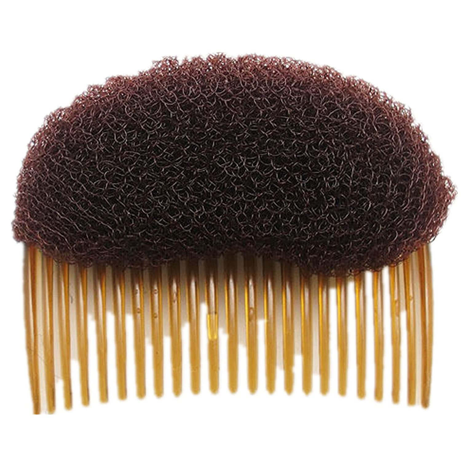 1PC Black/Brown colors for choose Charming BUMP IT UP Volume Inserts Do Beehive hair styler Insert Tool Hair Comb Hot (Brown) ZMWL MF05