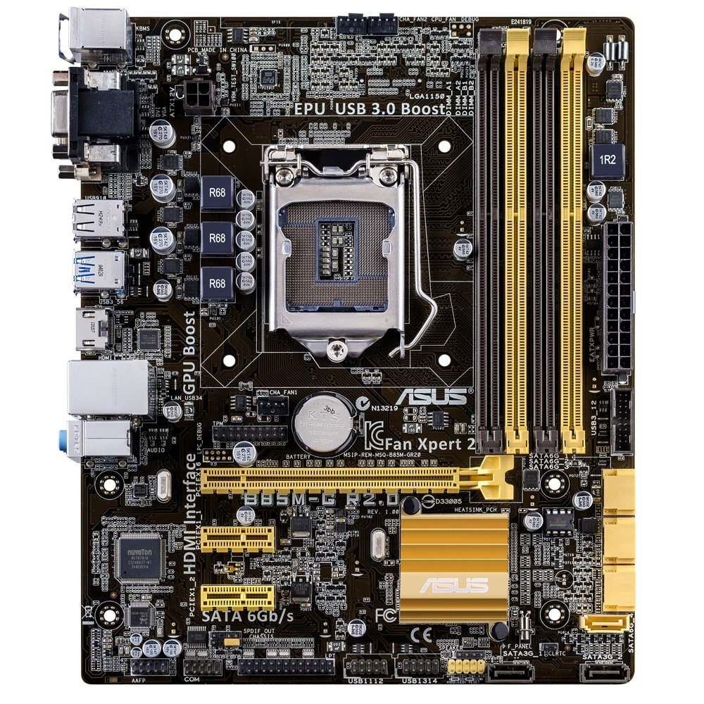 New asus h81m k motherboard cpu i3 i5 i7 lga1150 intel h81 ddr3 sata3 - Amazon Com Asus Micro Atx Ddr3 1600 Lga 1150 Motherboard B85m G R2 0 Computers Accessories