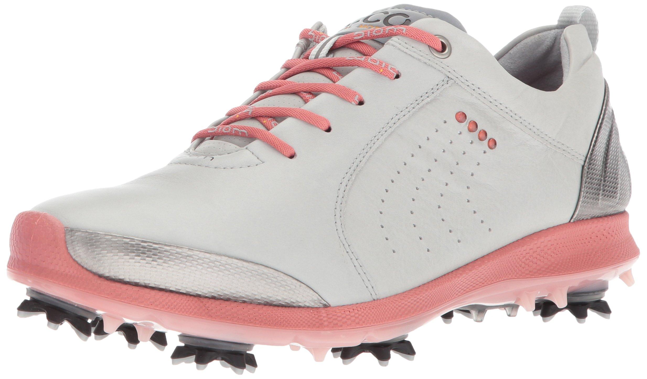 ECCO Women's Boim G 2 Free Golf Shoe, Concrete/Silver Pink, 40 EU/9-9.5 M US