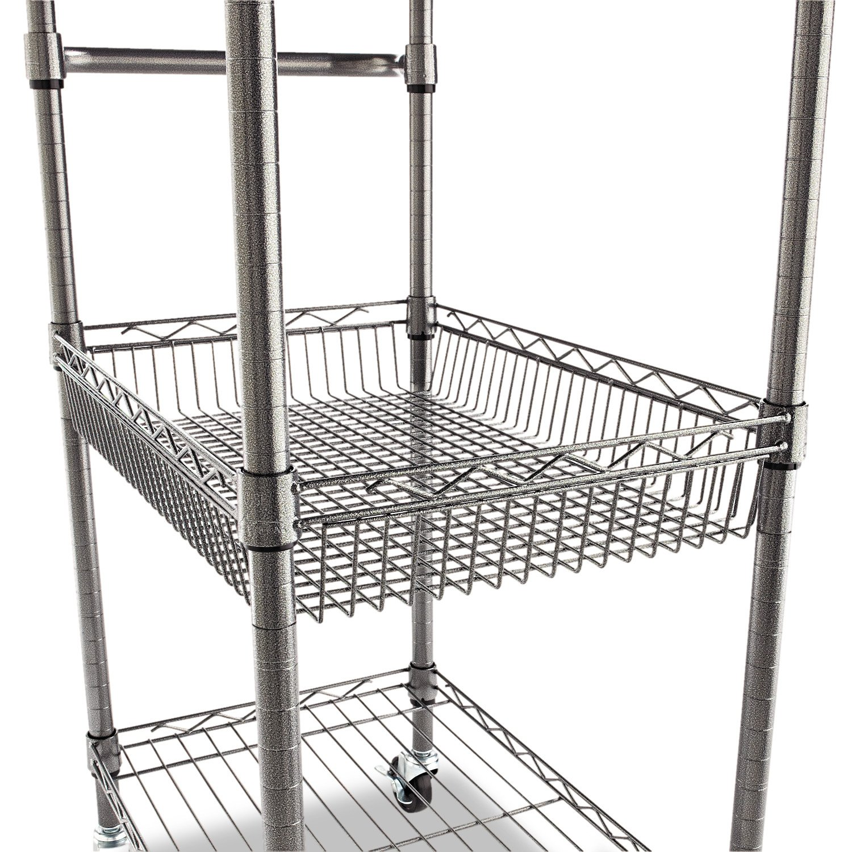 Amazon.com: Alera 3-Tier Wire Rolling Cart, 3-Tier Wire Rolling Cart ...