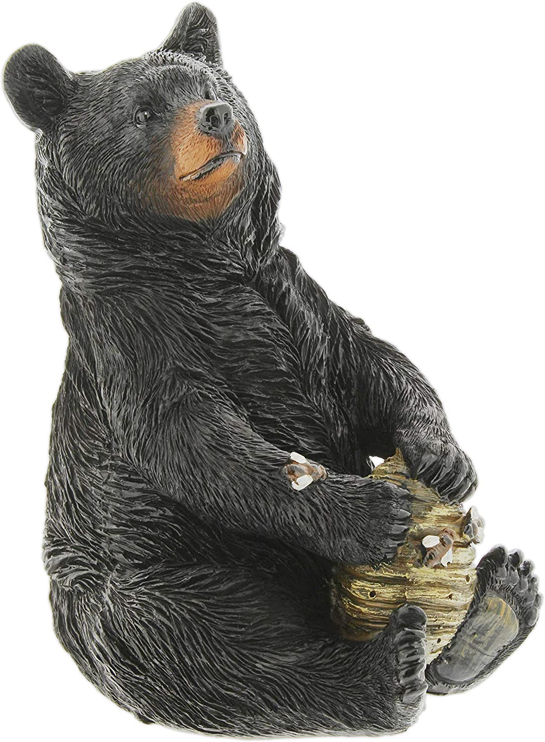 Amazon Com Black Bear With Beehive Resin Figurine 8 Kitchen Dining