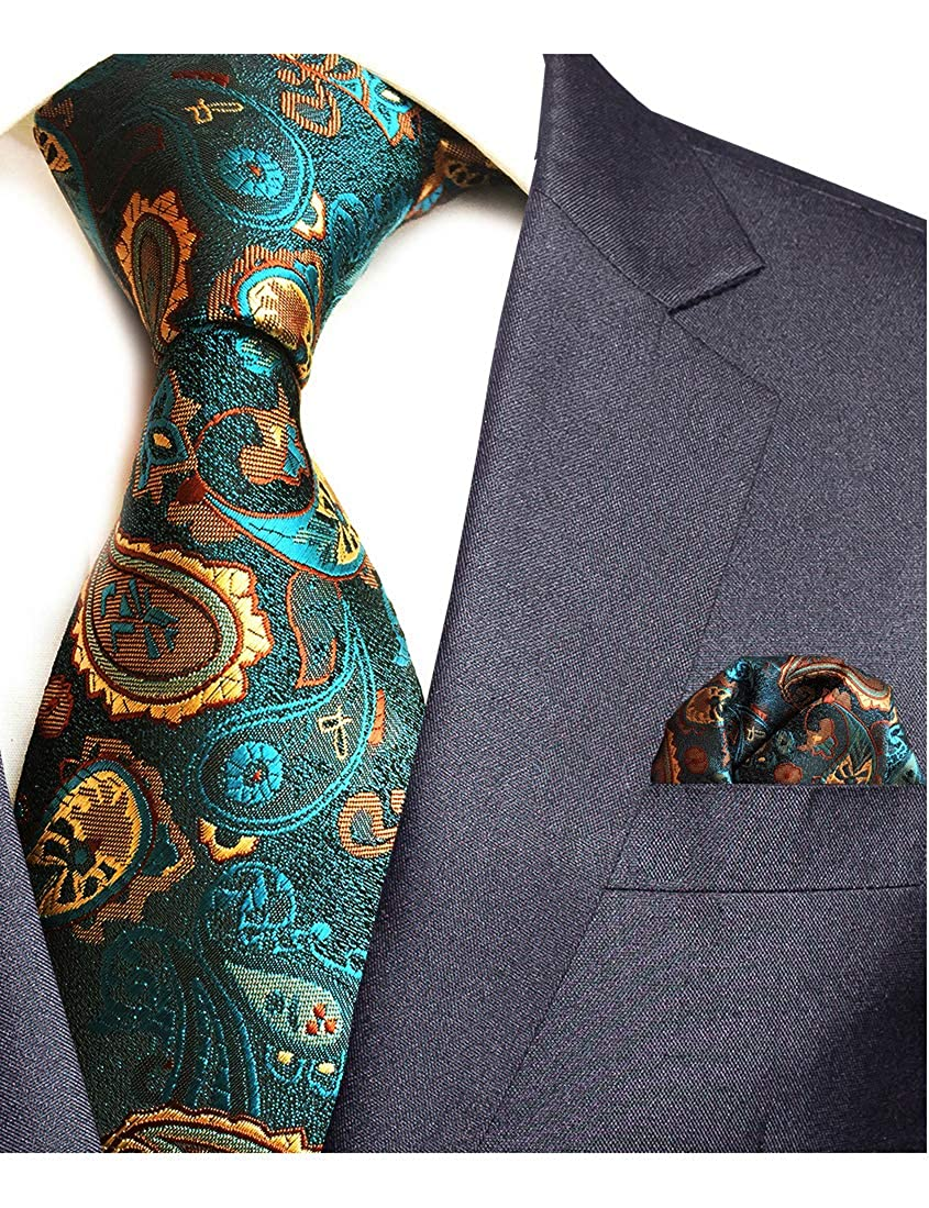f69744a91037 Wedding tie size: 57x3.15x1.4 inches (146x8x3.5 cm) , Material: Silk ,  Package include: tie,handkerchief. NICE DESIGN: the tie with a nice pattern  and ...