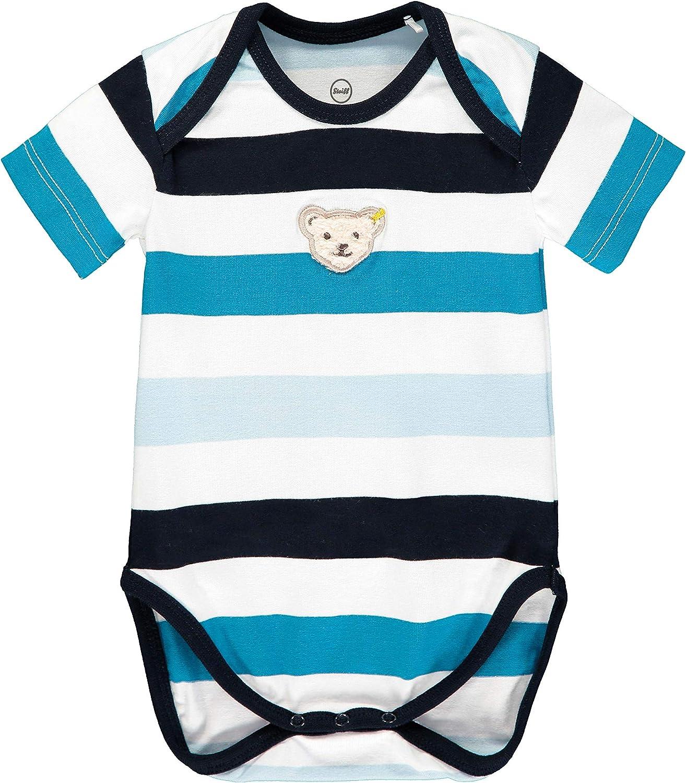 Steiff Baby-Jungen Mit Teddyb/ärmotiv Formender Body