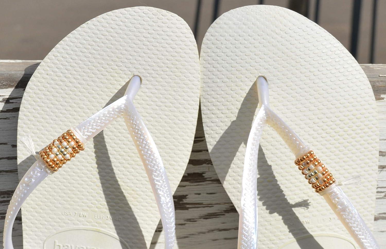 Wedding Flip Flops Vegan Bridal Flip Flops Wedding Sandals Boho Beaded Sandals Flip Flops Havaianas Hippie Sandals Sandals Women