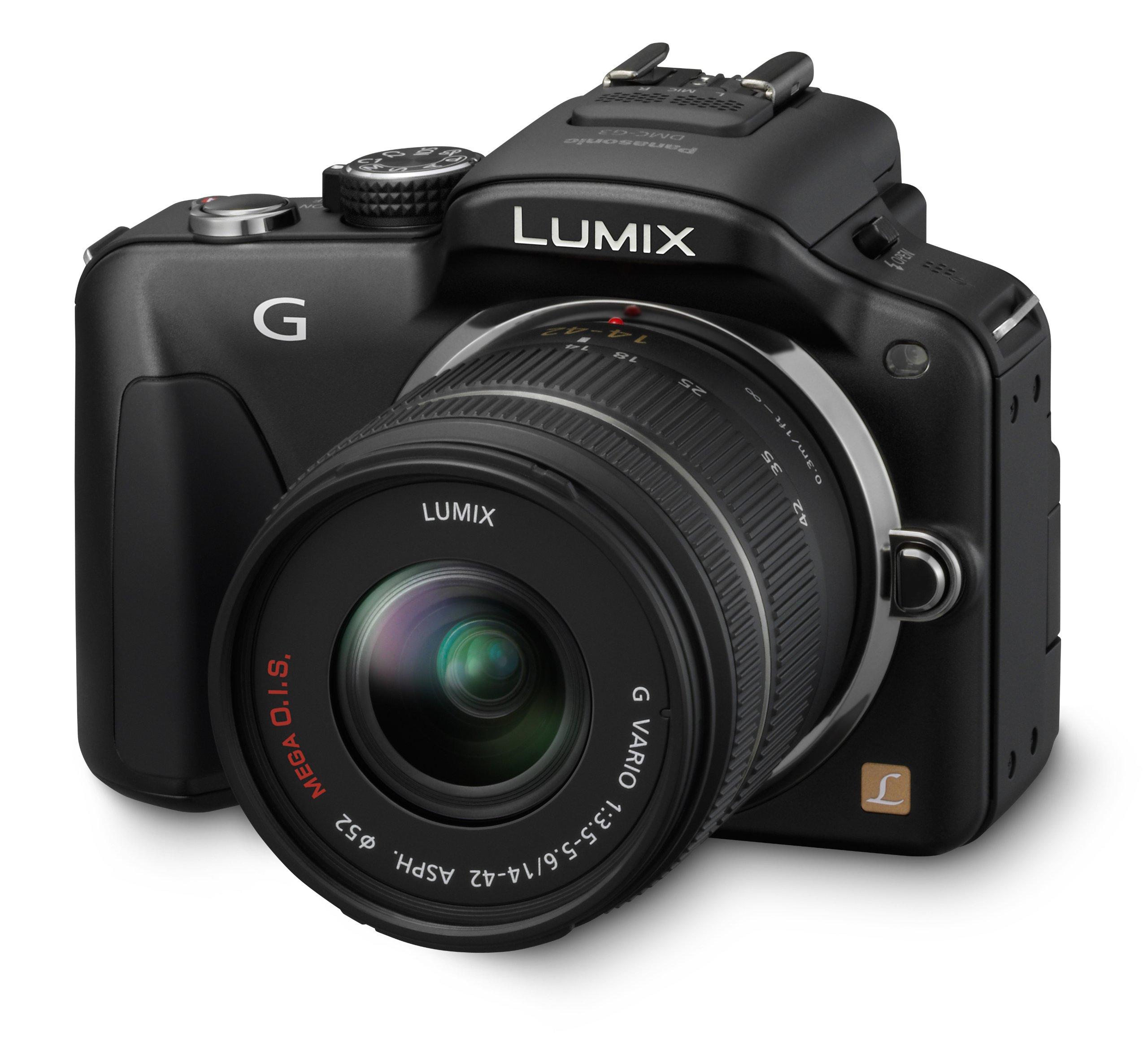 panasonic fotocamere digitali (modello: dmc-g3; generale:nero, obiettivo intercambiabile, obiettivo in kit) product image