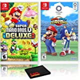 New Super Mario Bros. U Deluxe + Mario and Sonic at the Olympic Games Tokyo 2020 - Two Game Bundle - Nintendo Switch
