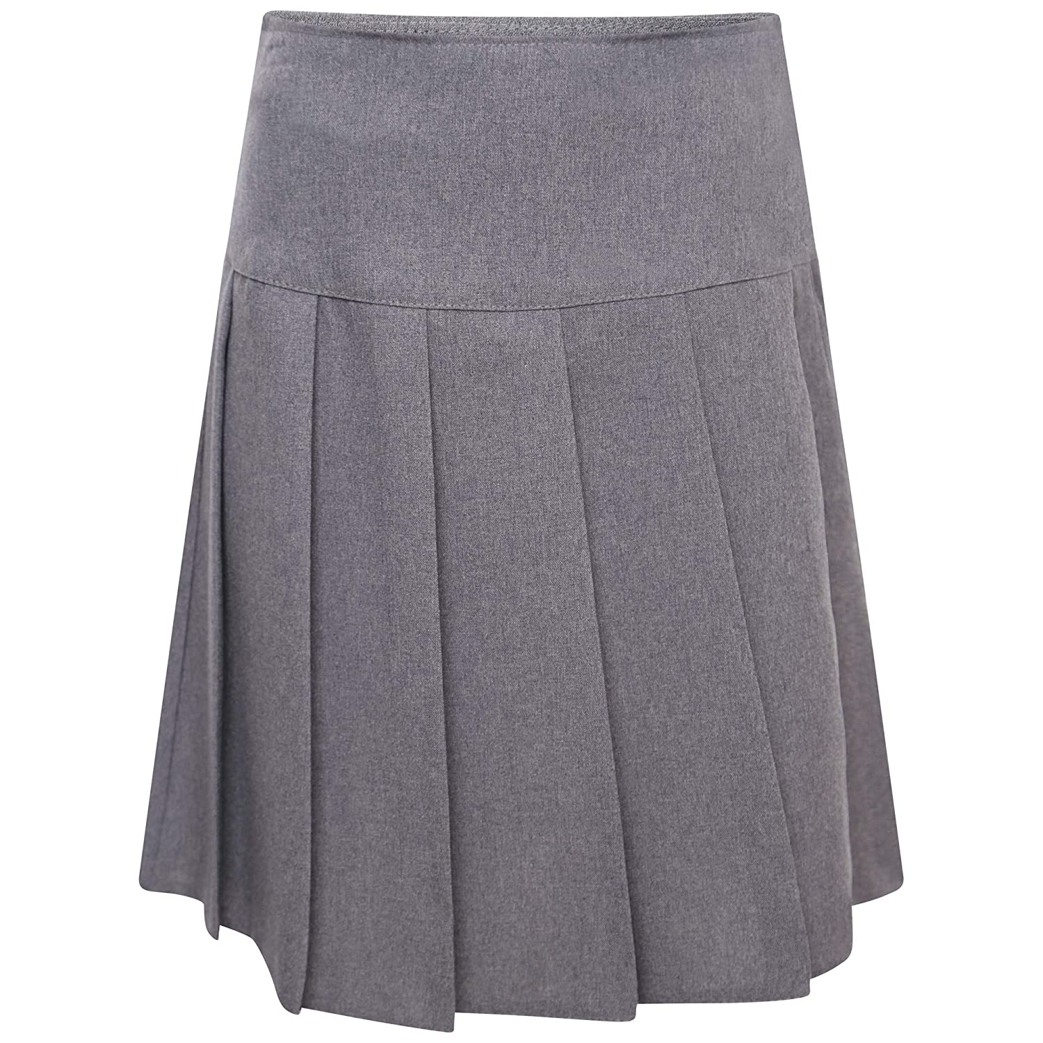 clicktostyle Kids Girls Women School Uniform Grey Colour All Round Knife Pleated Skirt