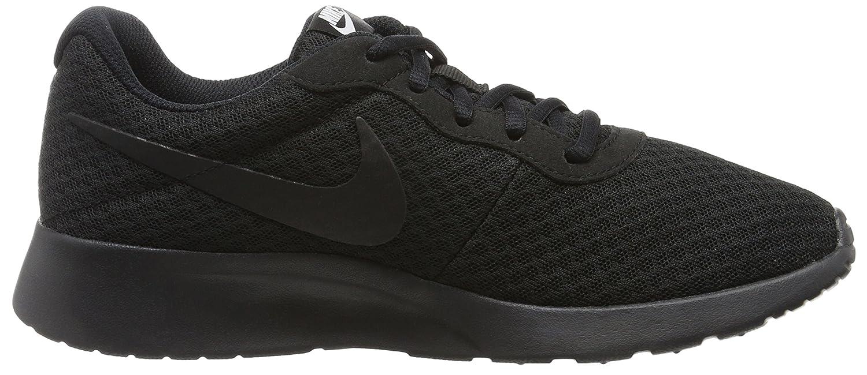 NIKE Women's Tanjun Running Shoes B079VXMNTR 8.5 B(M) US|Black/Black/White
