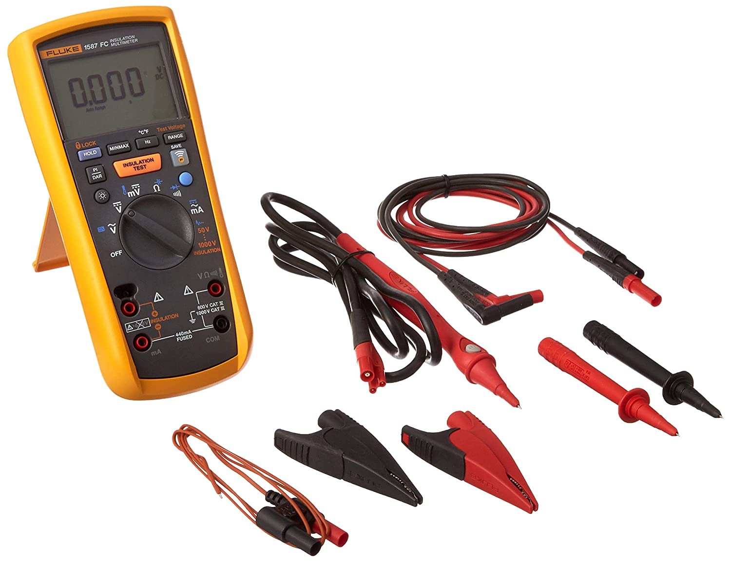 Fluke 1587 Insulation Multimeter Lcd Display 2 Gigaohms Circuit Tester If Further Assistance Is Needed Our Certified Car Resistance Up To 1000v Test Voltage Multi Testers Industrial