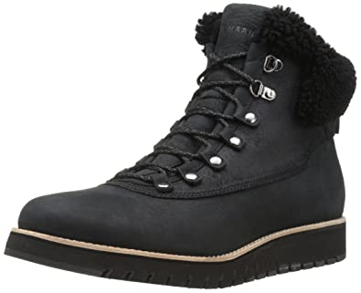 b5295d5b77e Cole Haan Women s Zerogrand Explorer Hiker Hiking Boot Leather Waterproof Black  Shearling