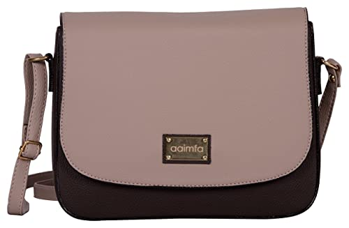 aaimfa PU Leather Made Multicolor Colored Sling Bag For Women