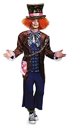 Disney Disguise Menu0027s Alice Mad Hatter Deluxe Costume, Multi, X Large