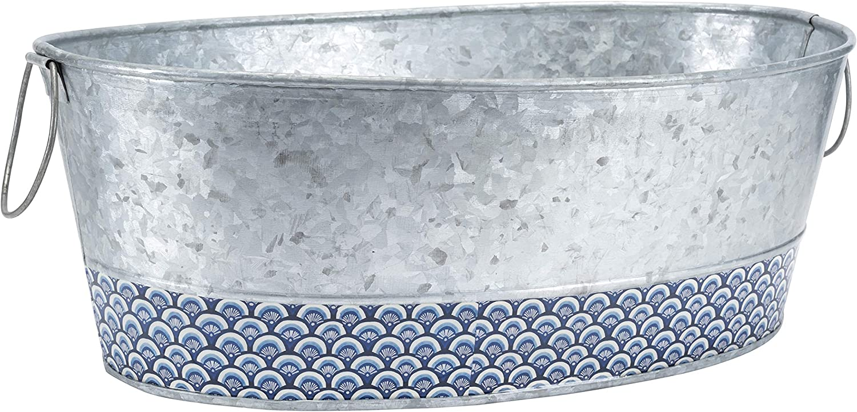 Old Dutch International Catalina Beverage tub, Silver Blue