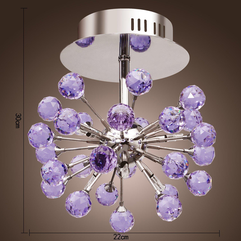 Lightinthebox 6 light floral shape k9 crystal ceiling light purple lightinthebox 6 light floral shape k9 crystal ceiling light purple 0942 9800 chandeliers amazon mozeypictures Gallery
