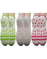 Yomandamor Womens 6-Pk Softest Bamboo Fiber Non Slip Safety Hospital and Home Care Socks,L Size(Sock Size:9-11)
