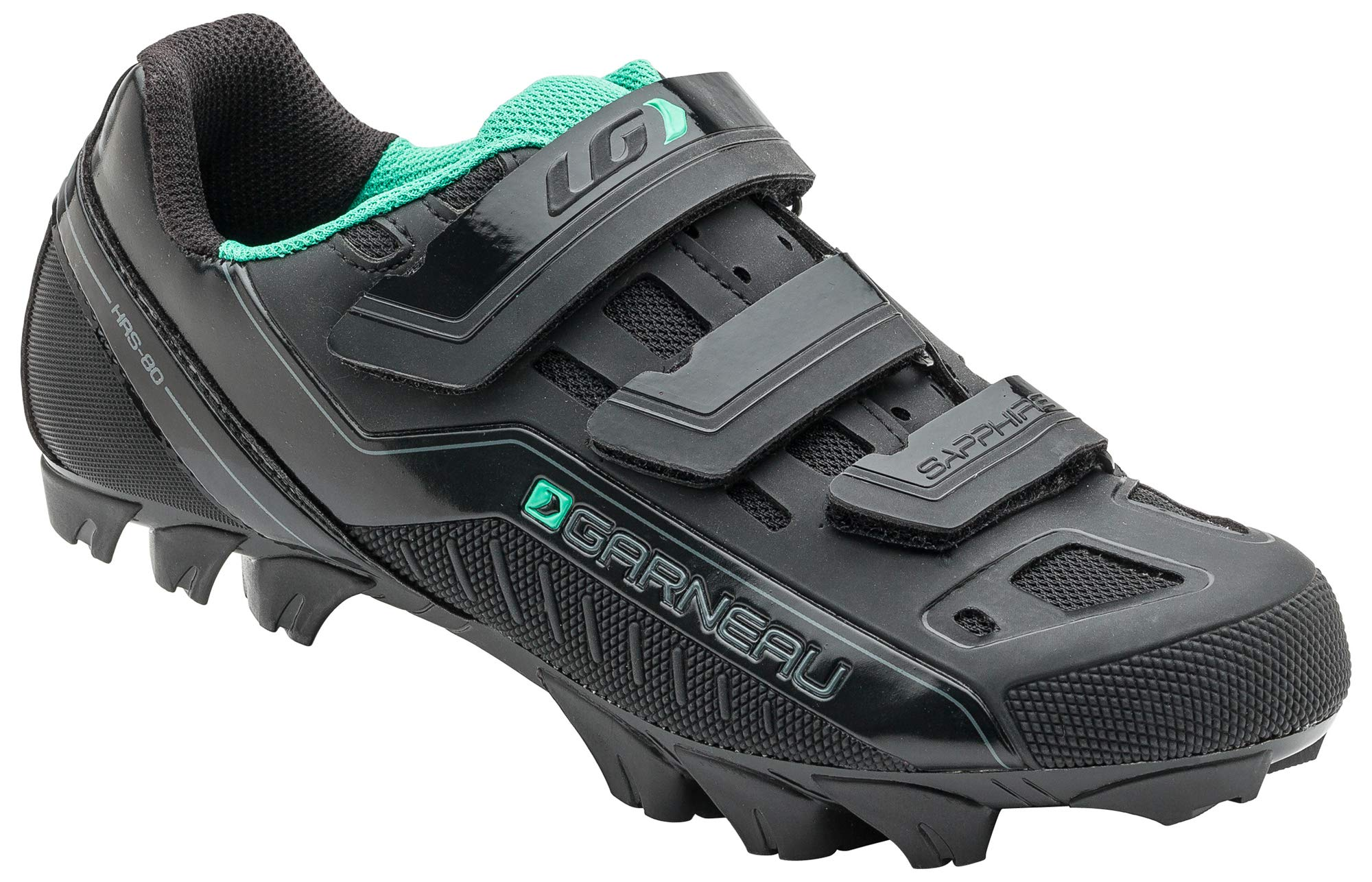 Louis Garneau Women's Sapphire MTB Bike Shoes, Black, US (10), EU (41) by Louis Garneau