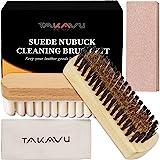 Suede & Nubuck Cleaning Brush Kit, Crepe brush, Brass Bristle Brush, Microfiber Towel Cloth, Cleaning Block Eraser for Cleani